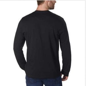 Kenneth Cole Shirts - Kenneth Cole Men's Long Sleeve Henley Size XL BLAC